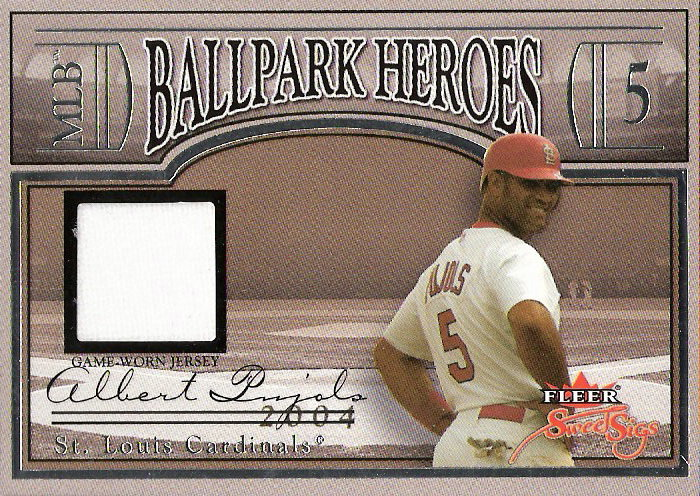 2004 Fleer Sweet Sigs Ballpark Heroes Jersey Silver #AP Albert Pujols/199