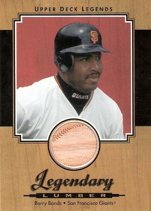 2001 Upper Deck Legends Legendary Lumber #LBB Barry Bonds DP