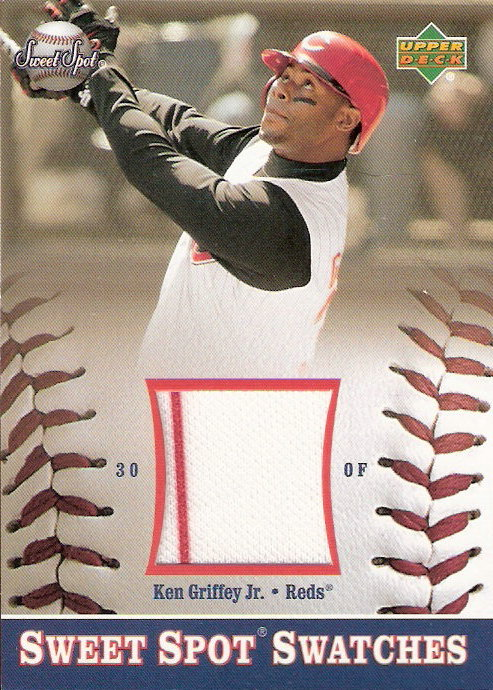 2002 Sweet Spot Swatches #KG Ken Griffey Jr.