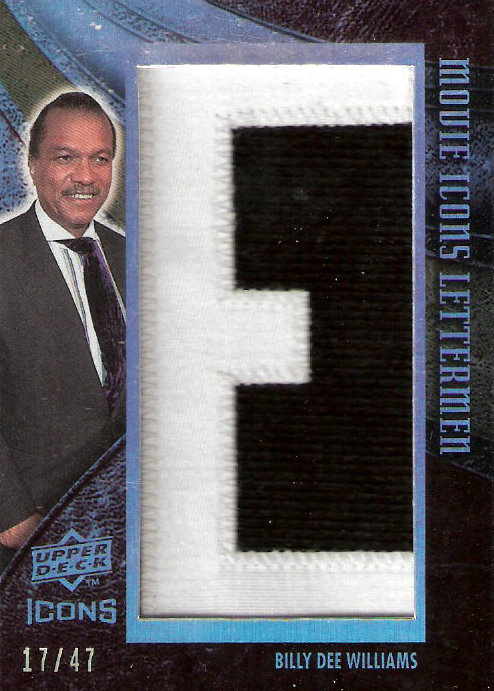 2008 Upper Deck Icons Movie Icons Lettermen #BW4 Billy Dee Williams/47/(Letters spell out WILLIAMS/Total print run 376)