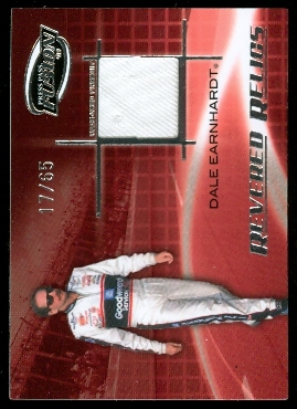 2009 Press Pass Fusion Revered Relics Silver #RRDES Dale Earnhardt, Sr./65