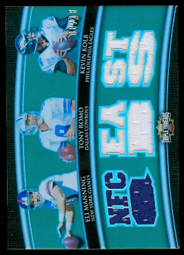2010 Topps Triple Threads Relic Combos Emerald #TTRC6 Eli Manning/Tony Romo/Kevin Kolb