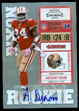 2010 Playoff Contenders #103 Anthony Dixon AU/360* RC