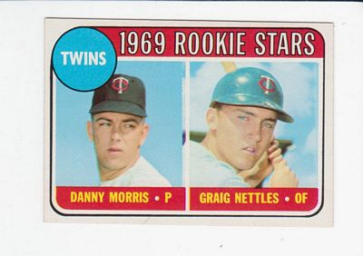 1969 Topps #99A Rookie Stars/Danny Morris RC/Graig Nettles RC (No Loop in Upper Left Corner of Card Back)