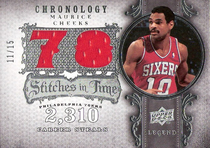 2007-08 Chronology Stitches in Time 15 #MC2 Maurice Cheeks