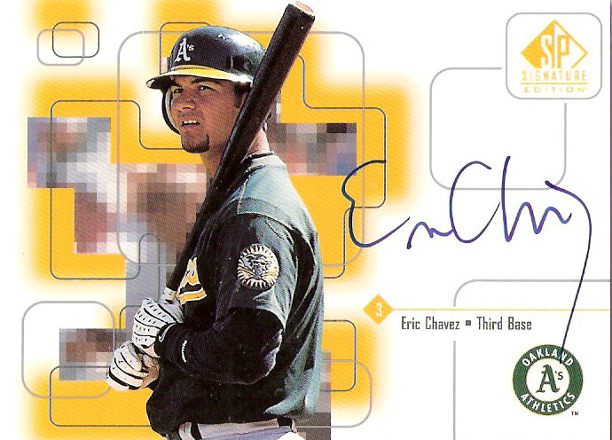 1999 SP Signature Autographs #EC Eric Chavez