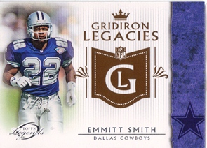 2011 Topps Legends Gridiron Legacies #GLES Emmitt Smith