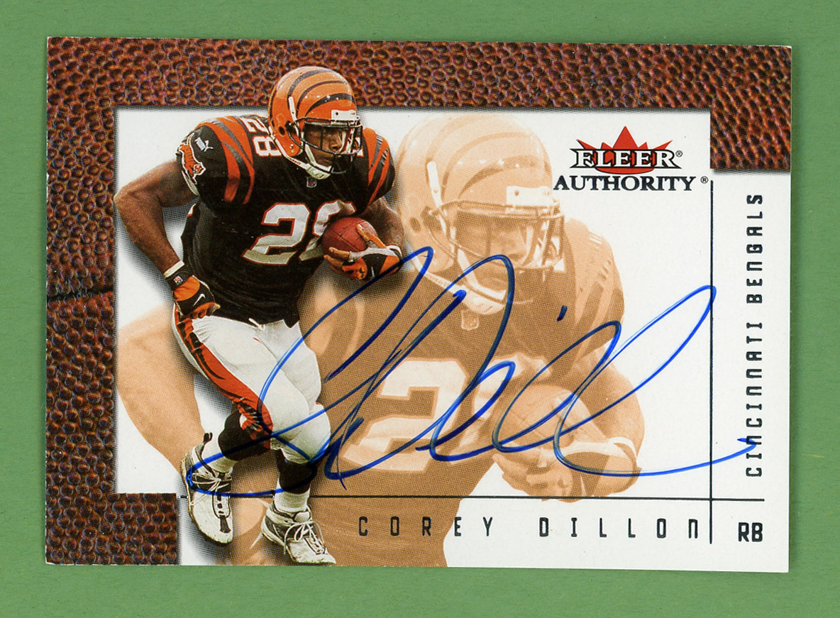 2001 Fleer Authority Autographs #8 Corey Dillon/500*