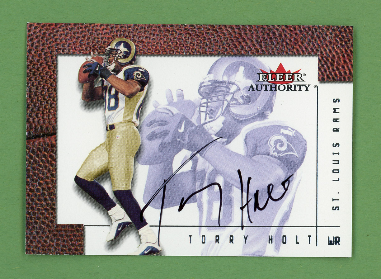 2001 Fleer Authority Autographs #12 Torry Holt/500*