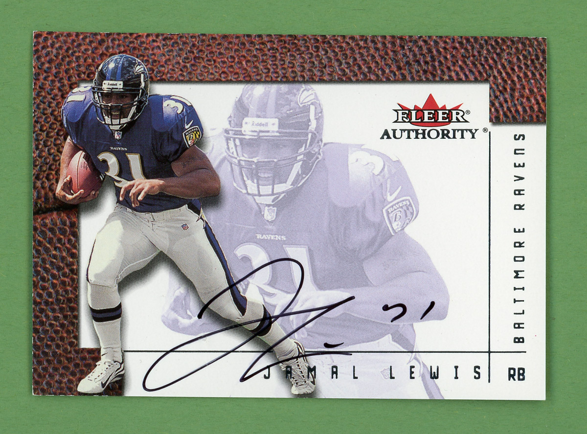2001 Fleer Authority Autographs #14 Jamal Lewis/450*