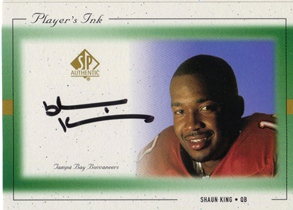 1999 SP Authentic Player's Ink Green #SKA Shaun King