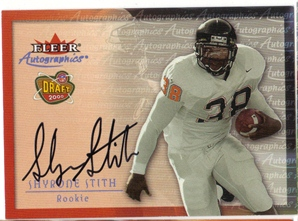 2000 Fleer Tradition Autographics #144 Shyrone Stith