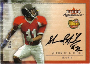 2000 Fleer Tradition Autographics Silver #59 Sherrod Gideon