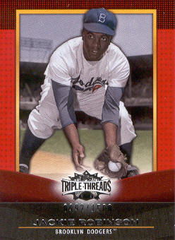 2011 Topps Triple Threads #38 Jackie Robinson