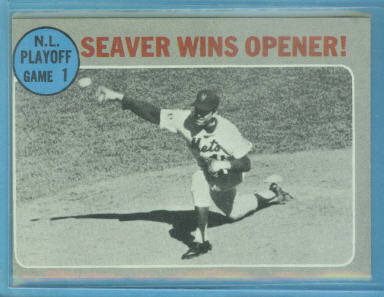 1970 Topps #195 NL Playoff Game 1/Tom Seaver