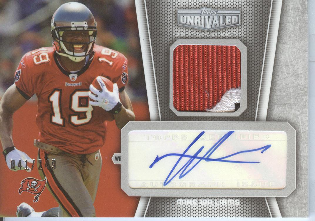 2010 Topps Unrivaled Autographed Patch #UAPMW Mike Williams/249