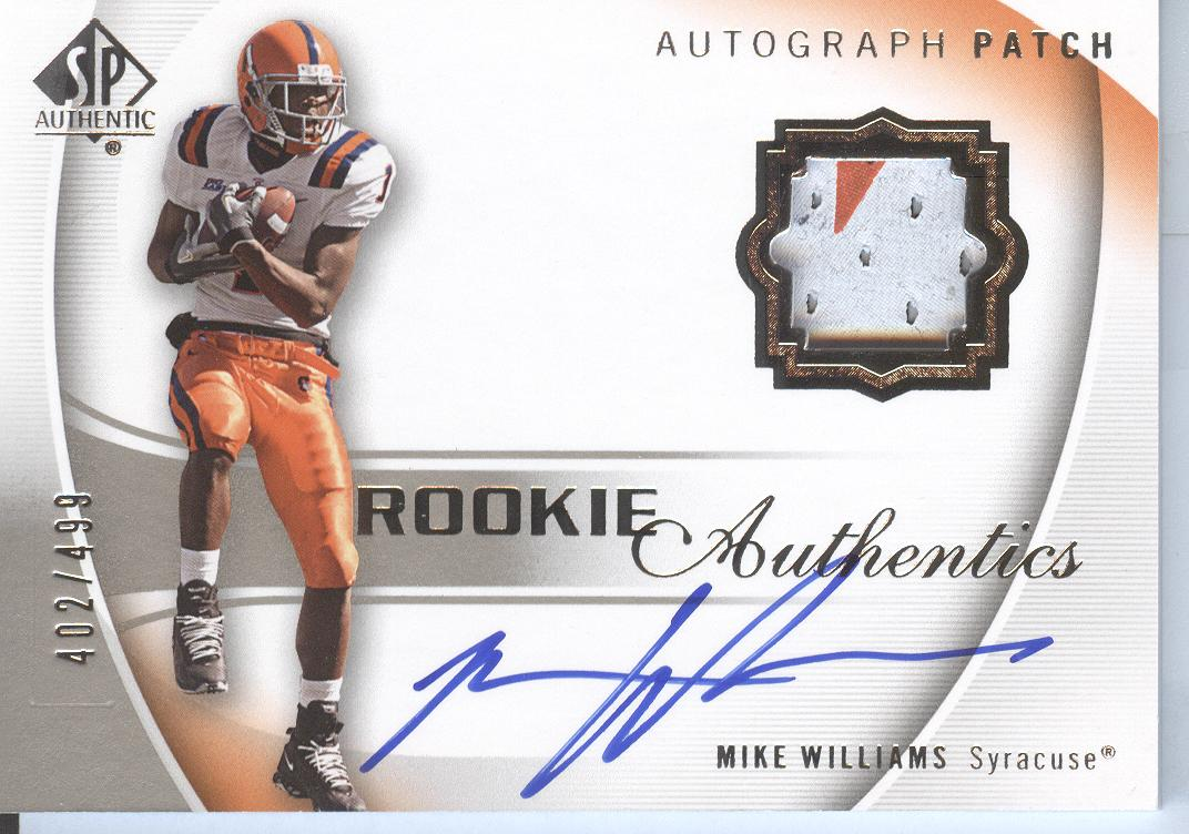 2010 SP Authentic #117 Mike Williams JSY AU/499 RC