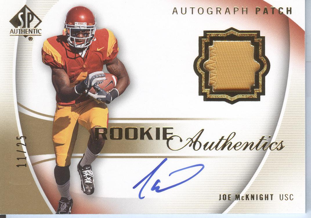 2010 SP Authentic Gold #125 Joe McKnight JSY AU