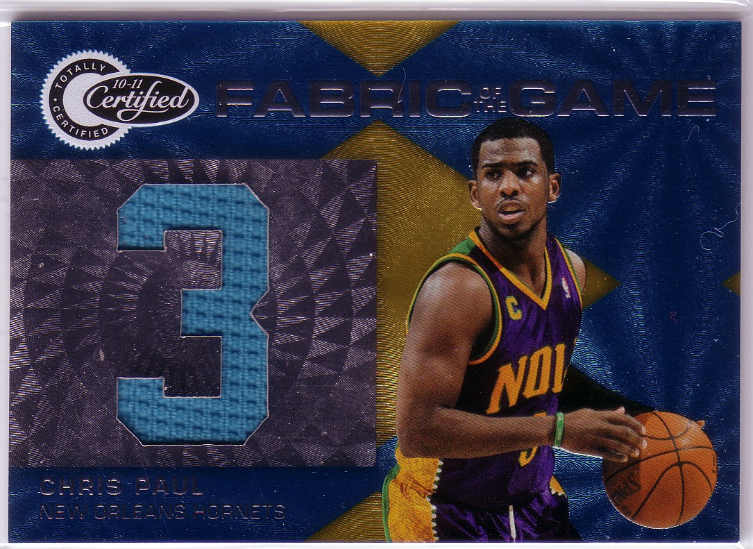 2010-11 Totally Certified Fabric of the Game Jumbo Jersey Number #5 Chris Paul/299