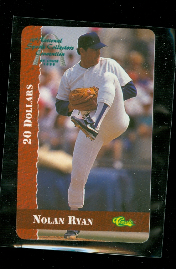 1995 Classic $20 Phone Card Nolan Ryan 16th National Sports Collectors Convention St. Louis