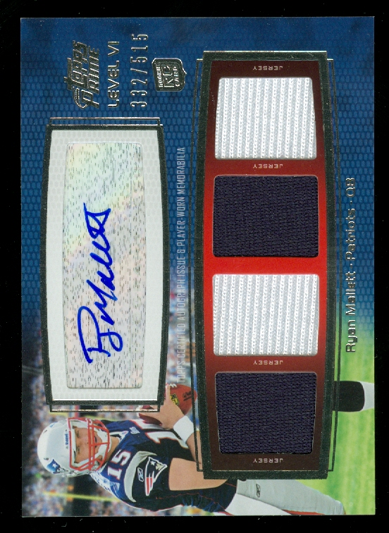 2011 Topps Prime Autographed Relics Level 6 #PVIRM Ryan Mallett/515