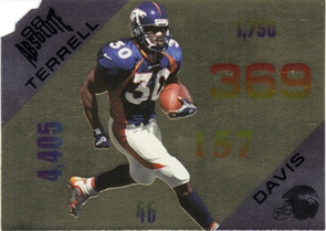 1998 Absolute Statistically Speaking Die Cut #11 Terrell Davis
