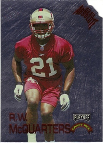 1998 Absolute Draft Picks Silver Die Cuts #10 R.W. McQuarters