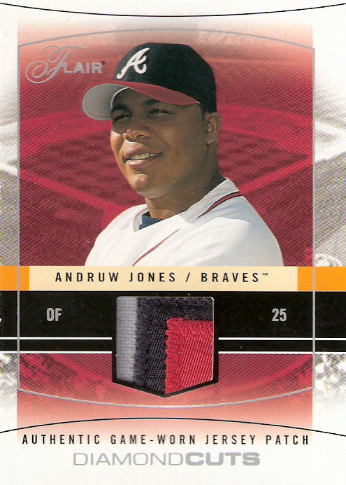 2004 Flair Diamond Cuts Game Used Red #AJ Andruw Jones