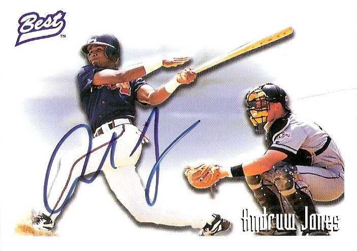 1995 Best Autographs #AU2 Andruw Jones