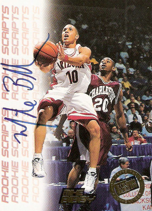 1998 Press Pass Double Threat Rookie Script Autographs #2 Mike Bibby