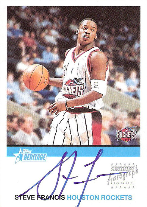 2000-01 Topps Heritage Autographs #HASF Steve Francis