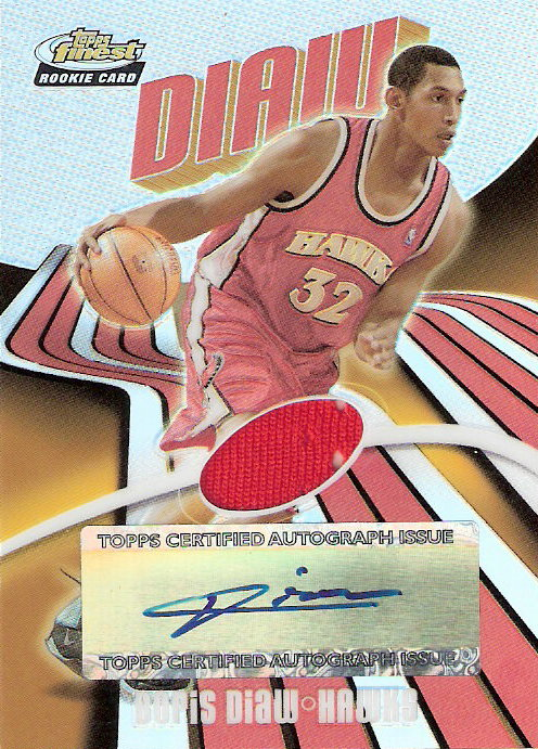 2003-04 Finest Refractors #144 Boris Diaw JSY AU