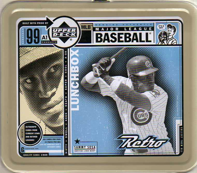 1999 Upper Deck Retro Lunchboxes #8 Sammy Sosa