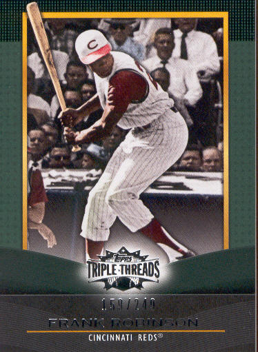2011 Topps Triple Threads Emerald #63 Frank Robinson