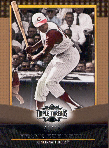 2011 Topps Triple Threads Gold #63 Frank Robinson