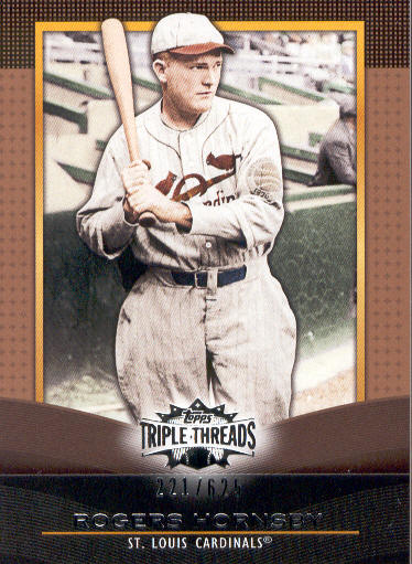 2011 Topps Triple Threads Sepia #76 Rogers Hornsby