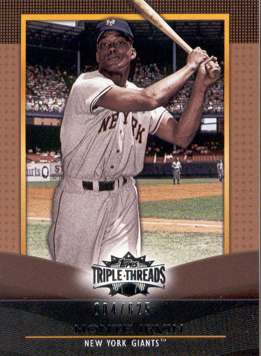 2011 Topps Triple Threads Sepia #88 Monte Irvin