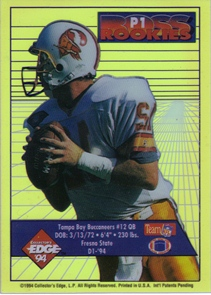 1994 Collector's Edge Boss Rookies Update Pop Warner Promos #P1 Trent Dilfer