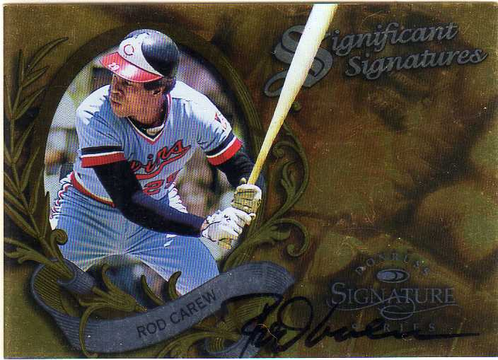 1997 Donruss Signature Significant Signatures #6 Rod Carew
