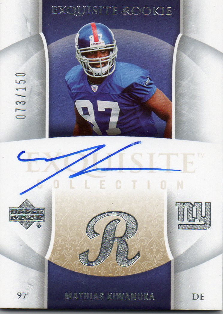 2006 Exquisite Collection #91 Mathias Kiwanuka AU RC
