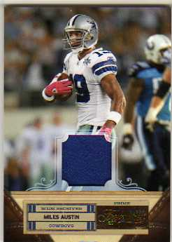 2011 Timeless Treasures Jerseys Prime #74 Miles Austin/25