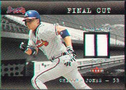 2001 Fleer Genuine Final Cut #10, Chipper Jones