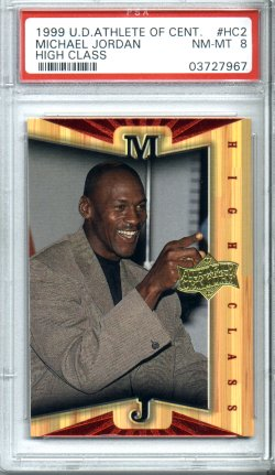 1999 Upper Deck Athlete of the Century #HC2 Michael Jordan PSA NM-MT 8 High Class NICE!!