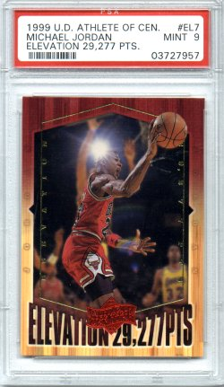 1999 Upper Deck Athlete of the Century #EL7 Michael Jordan PSA Mint 9 Elevation 29,227pts NICE