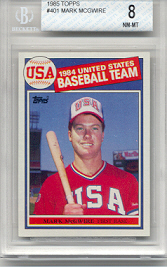 1985 Topps Mark McGwire Rookie