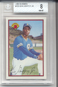 1989 Bowman Ken Griffey Jr Rookie
