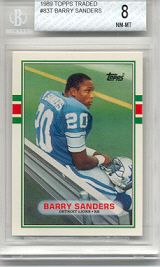 1989 Topps Traded Barry Sanders Rookie