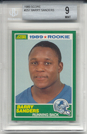 1989 Score Barry Sanders Rookie