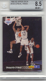 1992/93 Upper Deck Shaquille O'Neal Trade Rookie