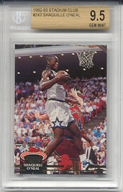 1992-93 Stadium Club Shaquille O'Neal Rookie #247 (BECKETT GRADED GEM MINT 9.5)